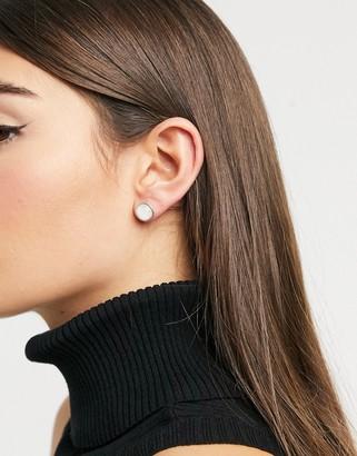 New Look moonstone stud earrings in silver