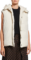 Vince Hooded Zip-Front Puffer Vest
