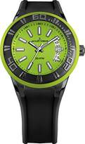 Jacques Lemans Miami Gents Black Silicone Strap Watch 1-1784N