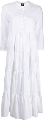 Aspesi Flared Tier-Design Shirt Dress
