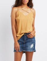 Charlotte Russe Strappy Caged Tank Top