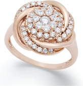 Wrapped in LoveTM Diamond Ring, 14k Rose Gold Diamond Pave Knot Ring (3/4 ct. t.w.)