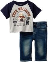 True Religion Buddha Football Raglan Tee & Jean 2-Piece Set (Baby Boys)