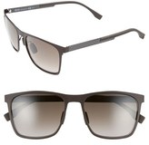 BOSS Men's 57Mm Retro Sunglasses - Dark Brown/ Brown Gradient
