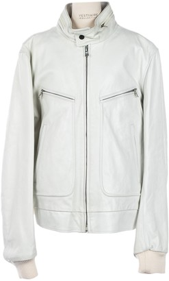 Dries Van Noten White Leather Jackets