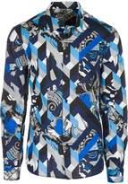 Versace men's long sleeve shirt dress shirt US size B1GRA6R0