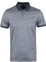 Boss Penrose 05 Teal Fine Stripe Polo Shirt