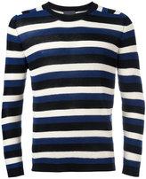 Laneus striped ribbed jumper