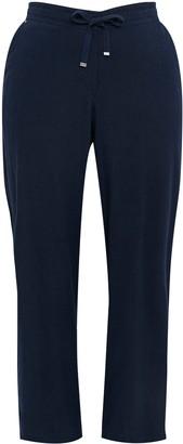 Evans Navy Blue Linen Blend Trousers