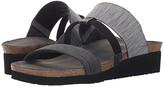 Naot Footwear Brenda (Light Gray Melange/Black Fabric/Black Sparkle Stretch/Silver) Women's Sandals