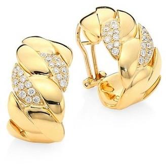 Alberto Milani Via Brera 18K Yellow Gold & Diamond Curb Earrings