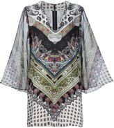 Alice + Olivia Alice+Olivia - printed caftan dress - women - Elastodiene/Polyester/Viscose - L