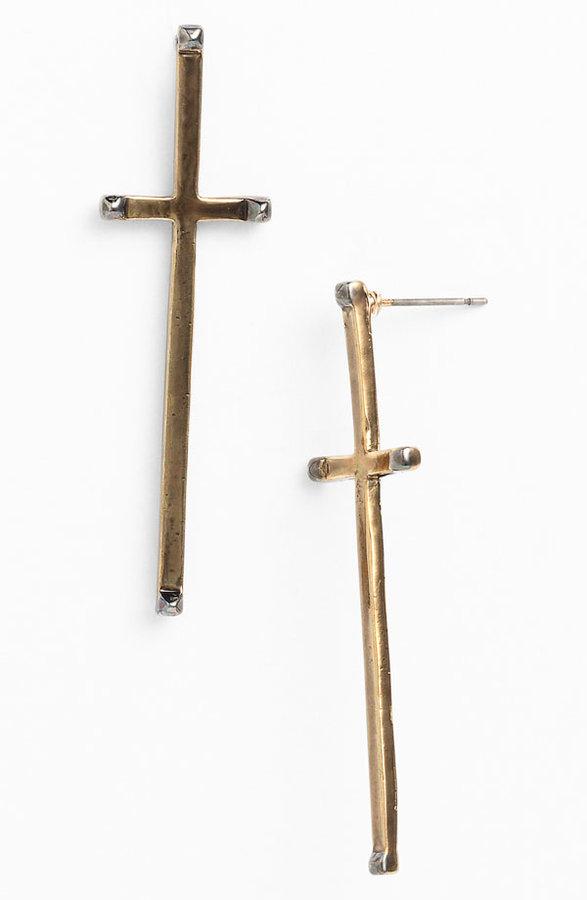 House Of Harlow Long Cross Earrings