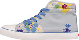 Cath Kidston Painted Posy Quilted Hightop Plimsolls
