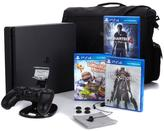 "Sony PlayStation 4 PS4 Slim 500GB Console with ""Uncharted 4,"" ""Bloodborne,"" ""LittleBigPlanet 3,"" 8-piece Starter Kit and Consol..."