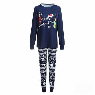 None Band Family Matching Merry Christmas Pajamas Set Women Casual PJs Sleepwear Nightwear (mom-XL)