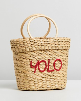 Poolside Mini Embroidered YOLO Tote