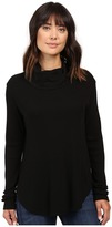 Michael Stars Thermal Long Sleeve Cowl Neck Top