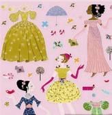Djeco Posh Totty Designs Interiors Children's Vintage Style Stickers Of Women
