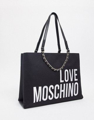 Love Moschino tote bag with large logo in black