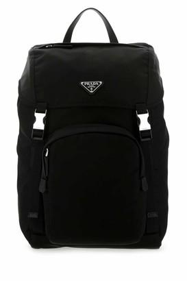 Prada Triangle Logo Backpack