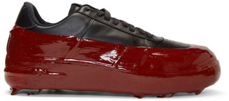 424 SSENSE Exclusive Black and Red Dipped Sneakers