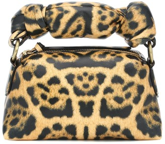 Dries Van Noten Leopard-print padded leather tote