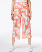 Shift Juniors' Printed Wide-leg Cropped Pants