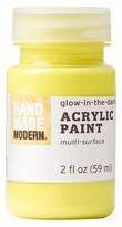 Hand Made Modern - 2oz Acrylic Paint - Glow in the Dark - Full Moon Yellow