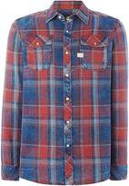 G Star Men's G-Star Landoh Flannel Check Long Sleeve Shirt