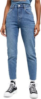 BDG Edie High Waist Raw Hem Skinny Jeans