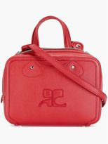 Courreges embossed logo shoulder bag - women - Calf Leather - One Size