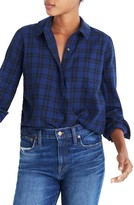 Madewell Women's Plaid Faux Wrap Shirt