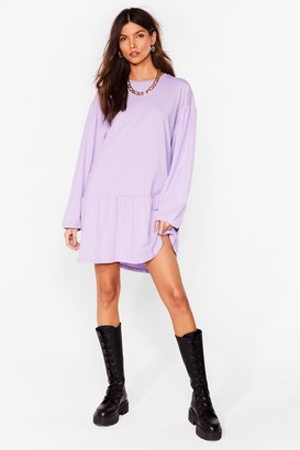 Nasty Gal Womens Drop What You're Doing Relaxed Mini Dress - Black - 4, Black
