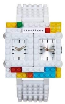 Nanoblocktime Traveler Watch, White