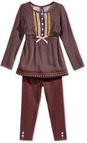 Nannette Little Girls' 2-Pc. Tunic and Leggings Set