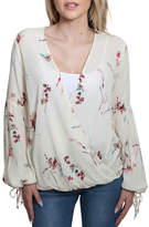 Love Stitch Lovestitch Printed Jacquard Top