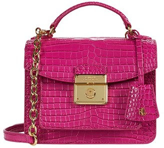 Lauren Ralph Lauren Beckett 19 Crossbody (Deep Fuchsia) Handbags