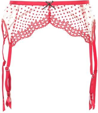 Fleur Du Mal Dotty garter belt