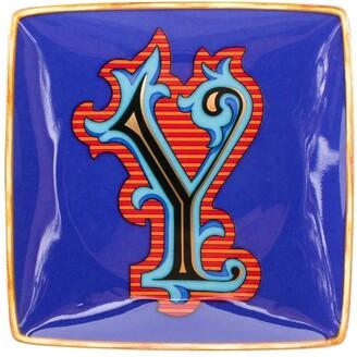 Versace Home Alphabet Y plate (12cm)