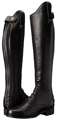 Ariat English Kids Heritage Contour Field Boot Regular/Tall (Little Kid/Big Kid) (Black) Cowboy Boots