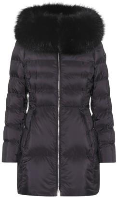 Prada Fur-trimmed down coat