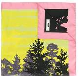 MSGM Women's Yellow Silk Scarf.