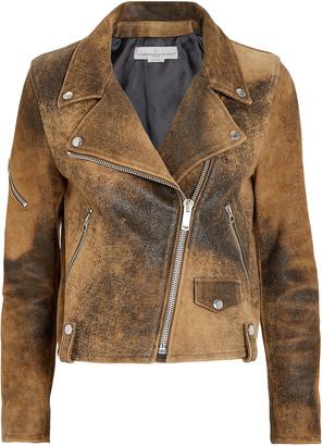 Golden Goose Hanna Distressed Leather Moto Jacket