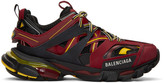 Balenciaga Burgundy and Black Track Sneakers