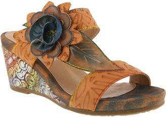 Spring Step L'Artiste by Leather Slide Sandals- Shayla