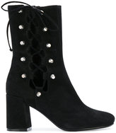 McQ by Alexander McQueen lace-up ankle boots - women - Suede/Leather - 36