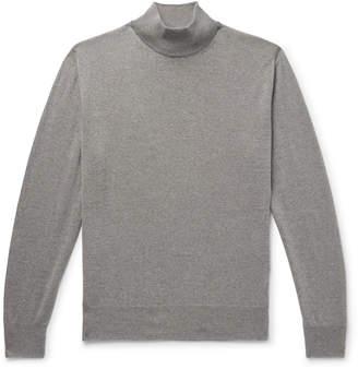 Canali Slim-Fit Merino Wool Mock-Neck Sweater