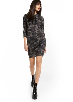 New York & Co. Hoodie Camoglauge Midi Dress