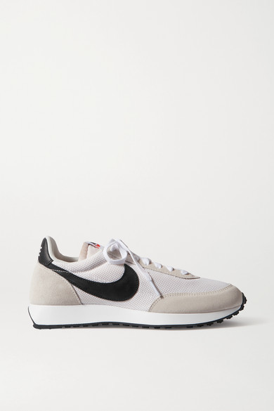 Nike Air Tailwind 79 Leather-trimmed Shell And Suede Sneakers - Beige